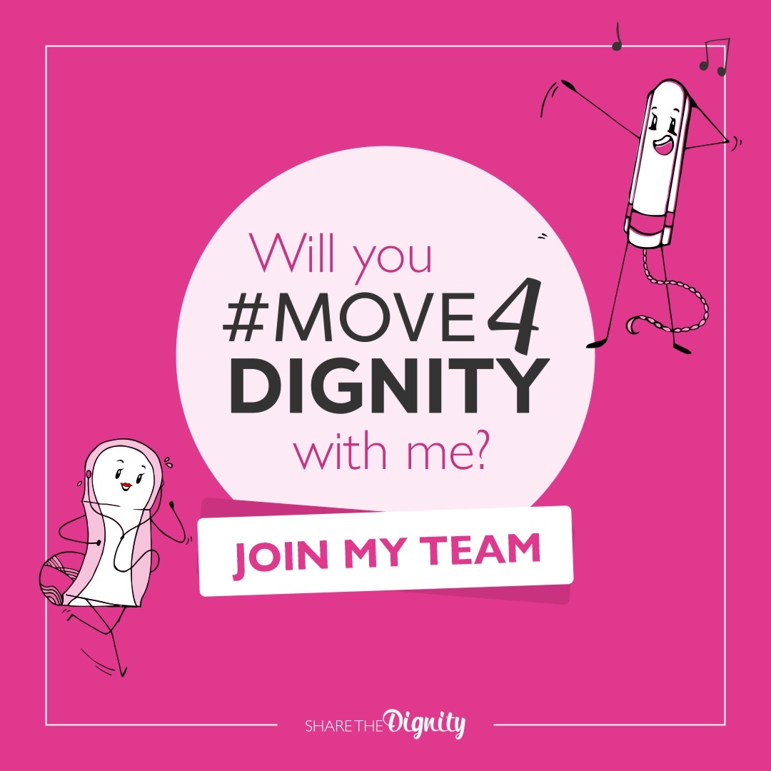 Move4Dignity - Join my team - social media tile